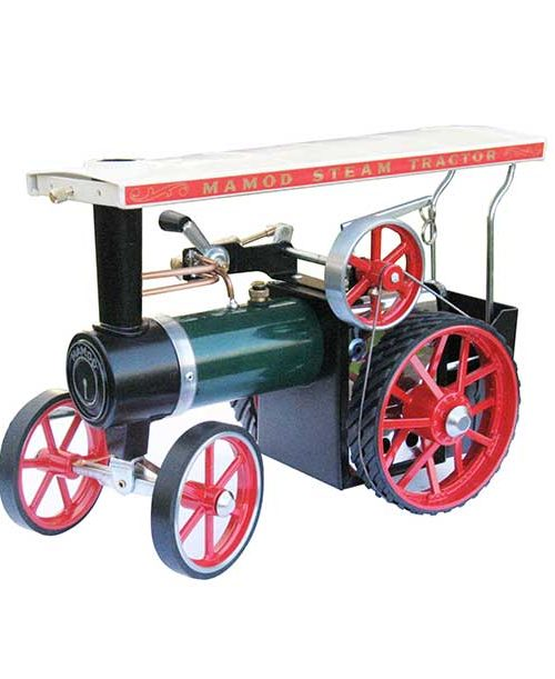 green-traction-engine-with-rubber-tires - Mamod