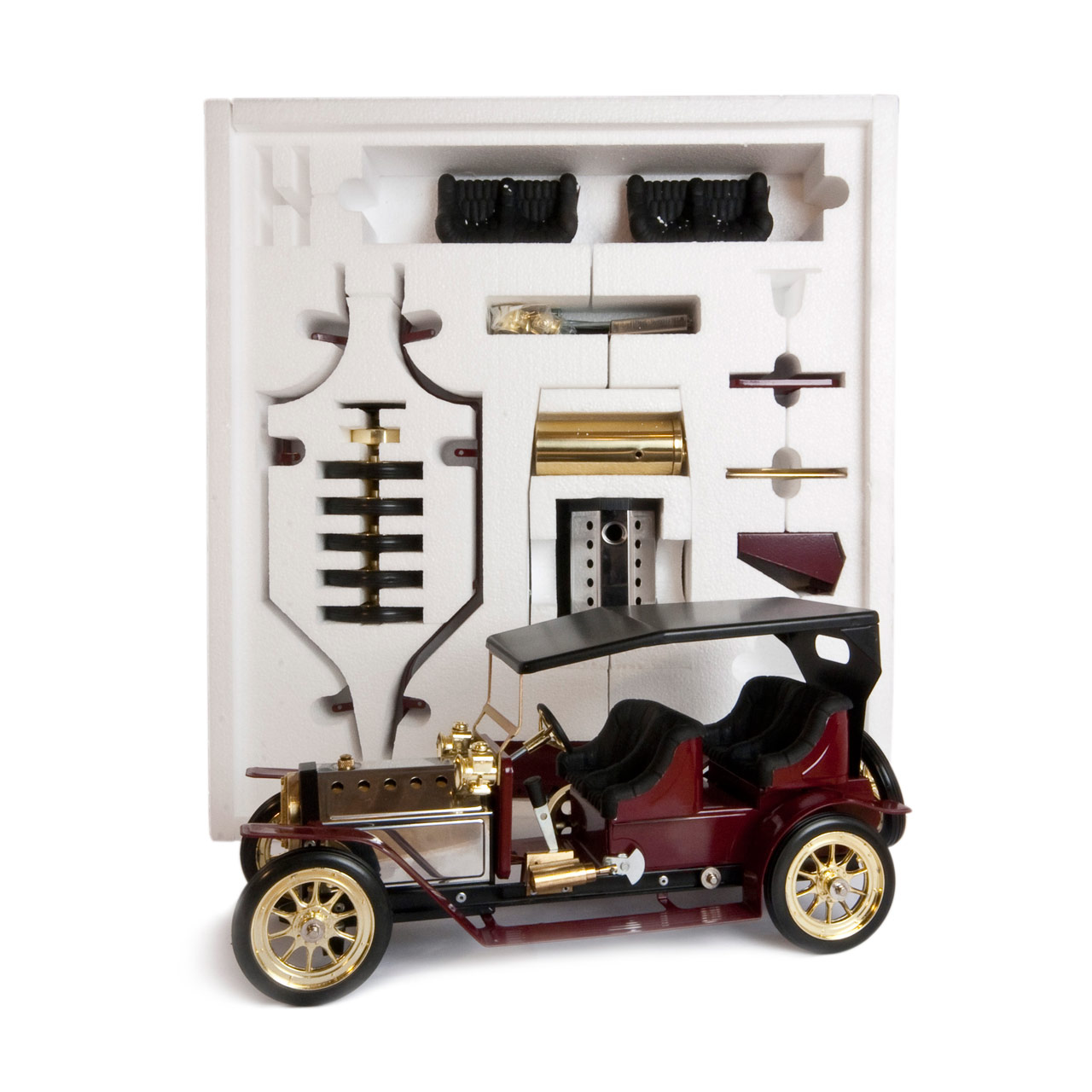 Mamod Live Steam Engines - Mamod Four Seater Limousine Kit Burgundy