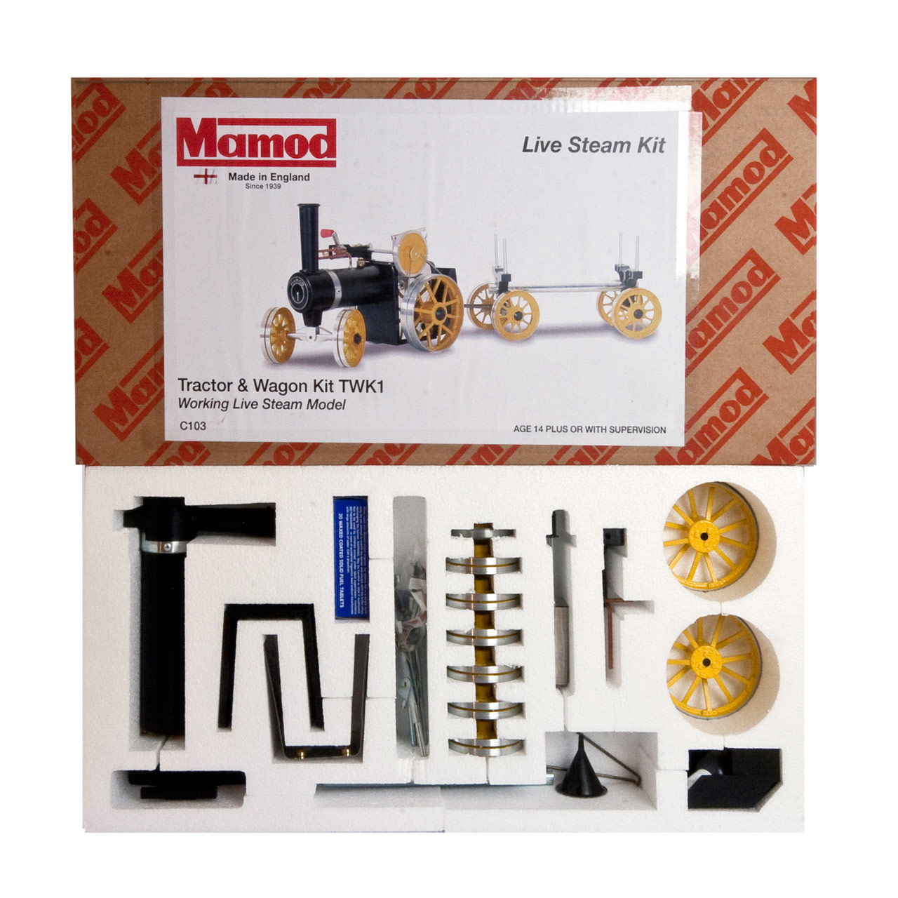 Mamod Live Steam Engines - Mamod Tractor and Wagon Kit